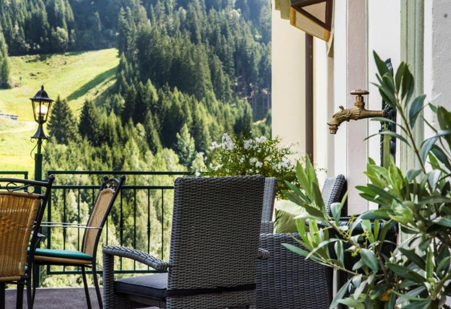 Hotel Kertess in St. Anton am Arlberg, Terrasse