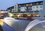 Hotel Am Kurhaus in Bad Schlema, Idyllische Außenansicht