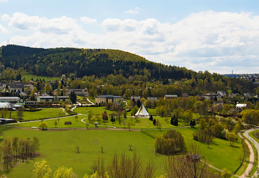 Hotel am Kurhaus in Bad Schlema, Panoramaansicht Bad Schlema
