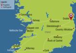 Rundreise Irland, Reisezielkarte