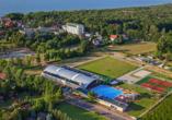 Hotel Borgota in Henkenhagen, Aquapark Helios Vogelperspektive