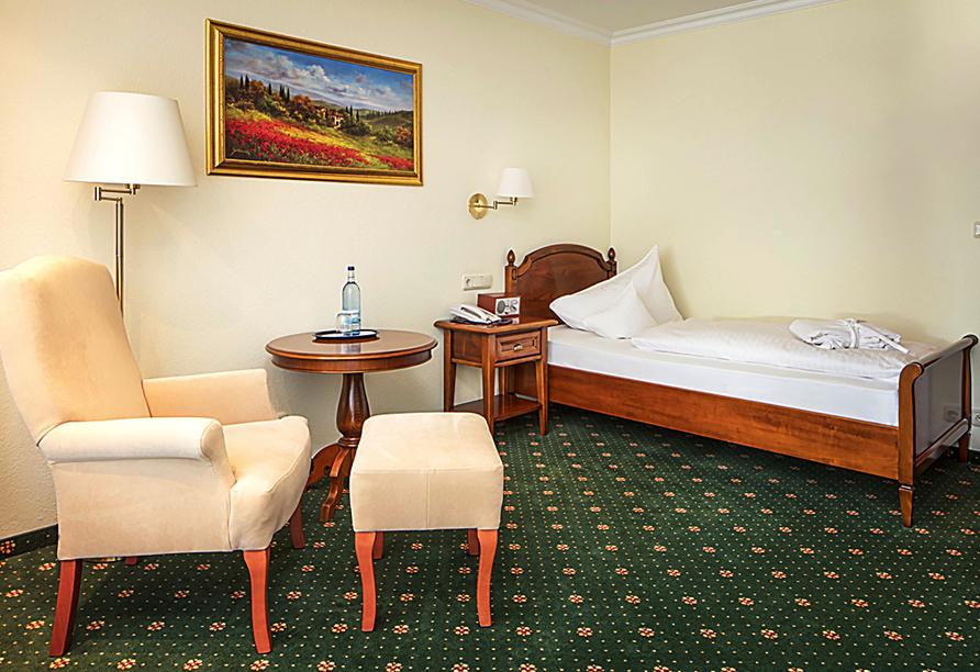 Hotel Schweizer Hof in Bad Füssing im Bayerischen Wald, Beispiel Einzelzimmer Komfort
