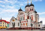 Auch die Alexander-Newski-Kathedrale in Tallinn werden Sie zum Abschluss Ihrer Reise sehen.