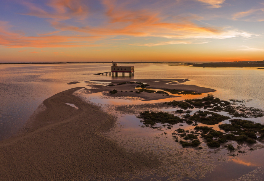 Der Naturpark Ria Formosa an der Algarve ist eine der schönsten Landschaften Portugals.