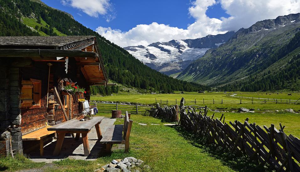 Landhotel Steindlwirt in Dorfgastein im Salzburger Land in Österreich, Almhütte