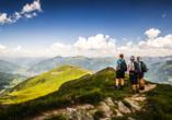 Landhotel Steindlwirt in Dorfgastein im Salzburger Land in Österreich, Ausblick über die Gipfel
