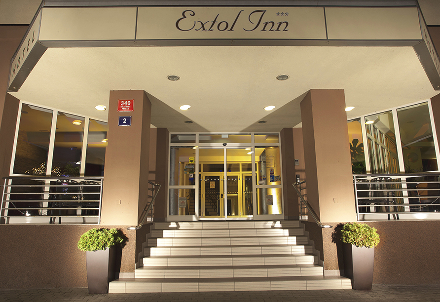 Wellness Extol Inn Hotel in Prag in Tschechien, Hoteleingang