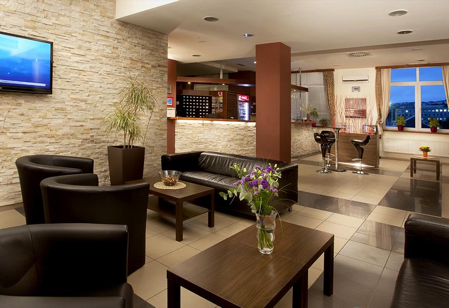 Wellness Extol Inn Hotel in Prag in Tschechien, Rezeption