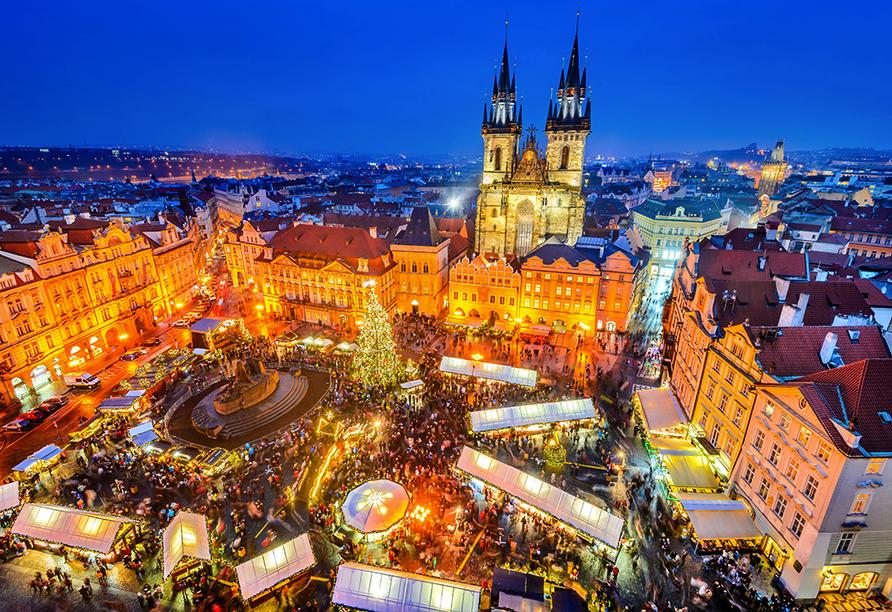 Wellness Extol Inn Hotel in Prag in Tschechien, Weihnachtsmarkt