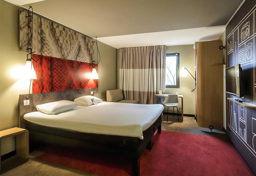 Rundreise Normandie & Bretagne, Zimmerbeispiel des Beispielhotels Ibis Rouen Centre Champ de Mars