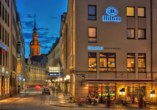 Hilton Hotel Dresden, Haupteingang und Restaurant Rossini