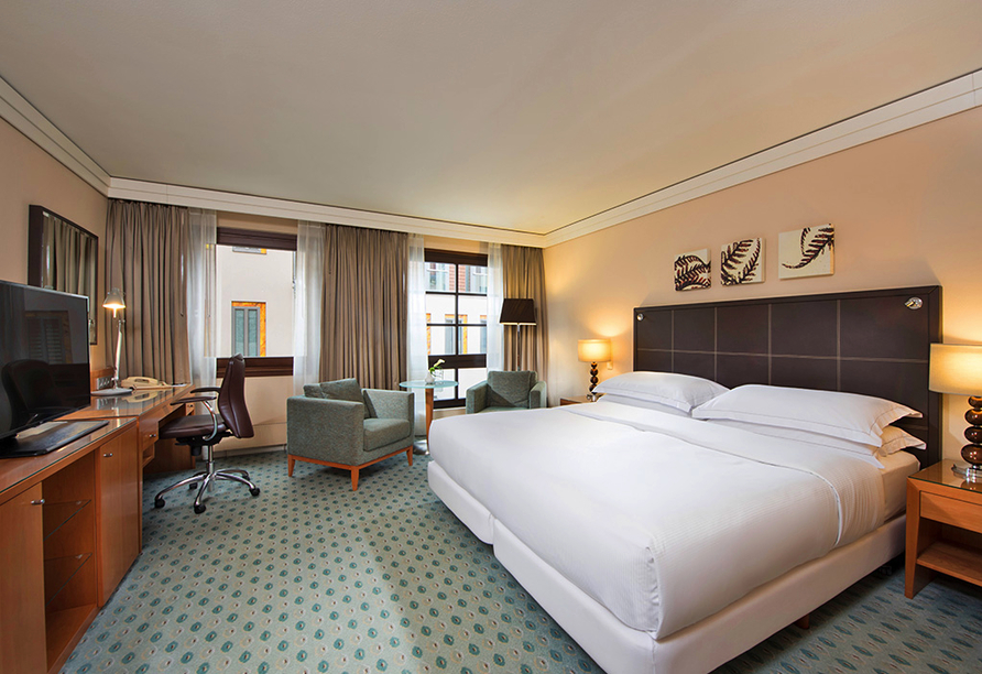 Hilton Hotel Dresden, Beispiel Doppelzimmer