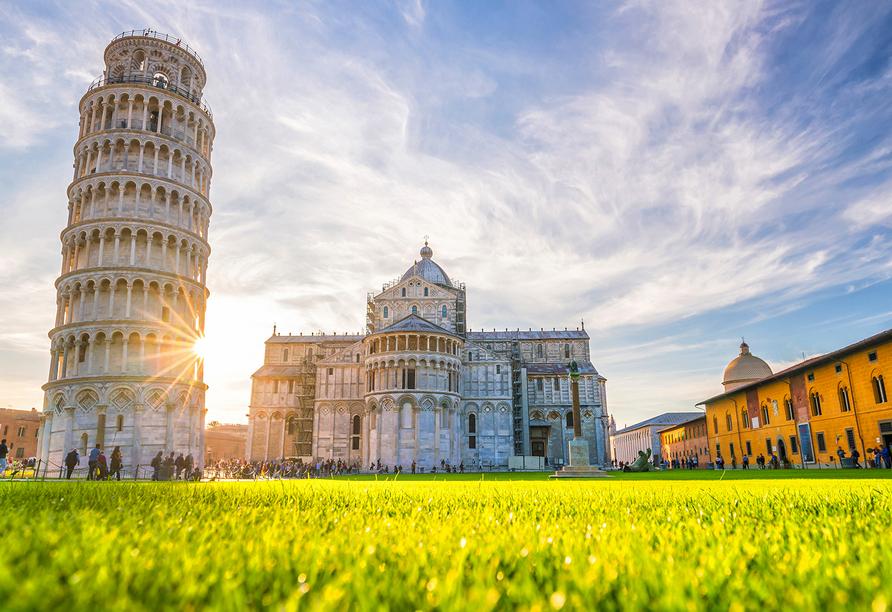 Grand Hotel Bonanno in Pisa, Schiefer Turm