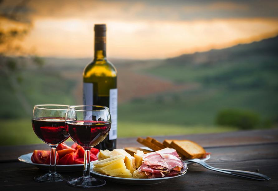 Grand Hotel Bonanno in Pisa, Weinverkostung