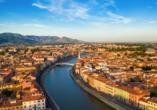 Grand Hotel Bonanno in Pisa, Fluss Arno