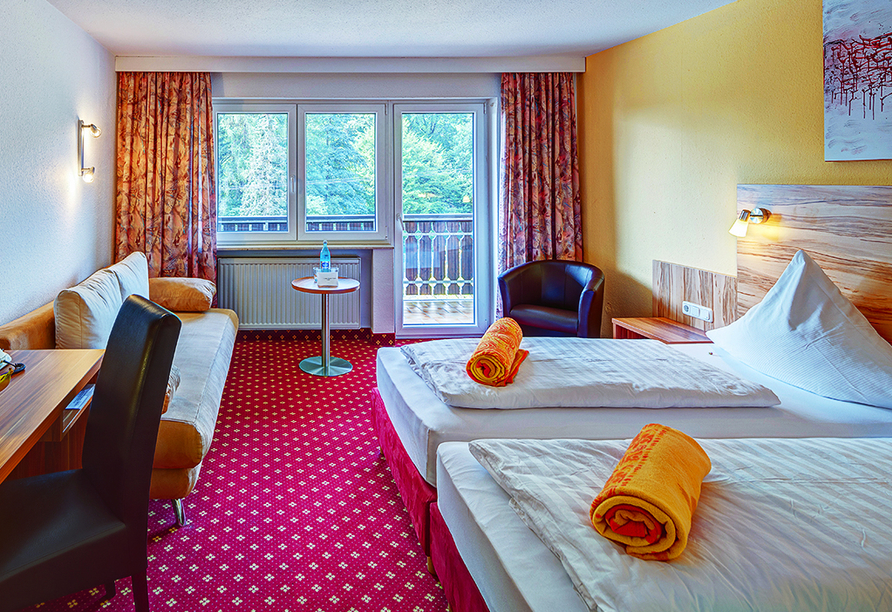 Hotel Christel in Heimbuchenthal, Zimmerbeispiel