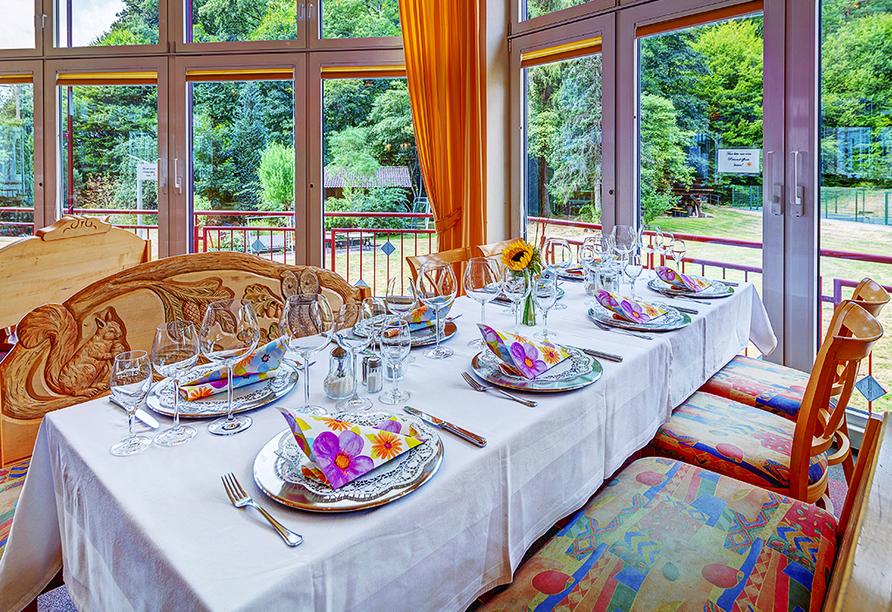 Hotel Christel in Heimbuchenthal, Wintergarten