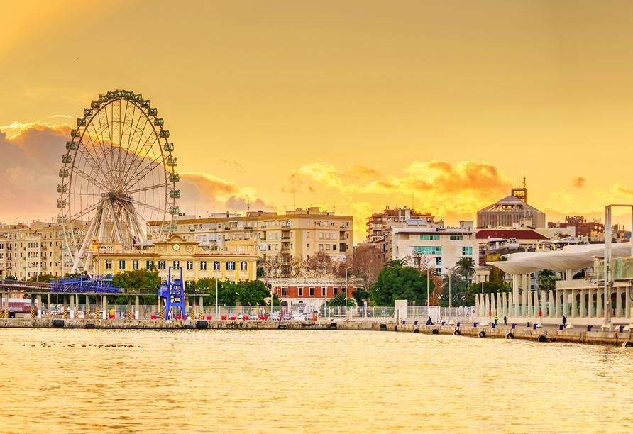Andalusien und seine Schätze, Skyline Málaga