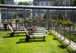 Avangard Resort in Swinemünde, Terrasse