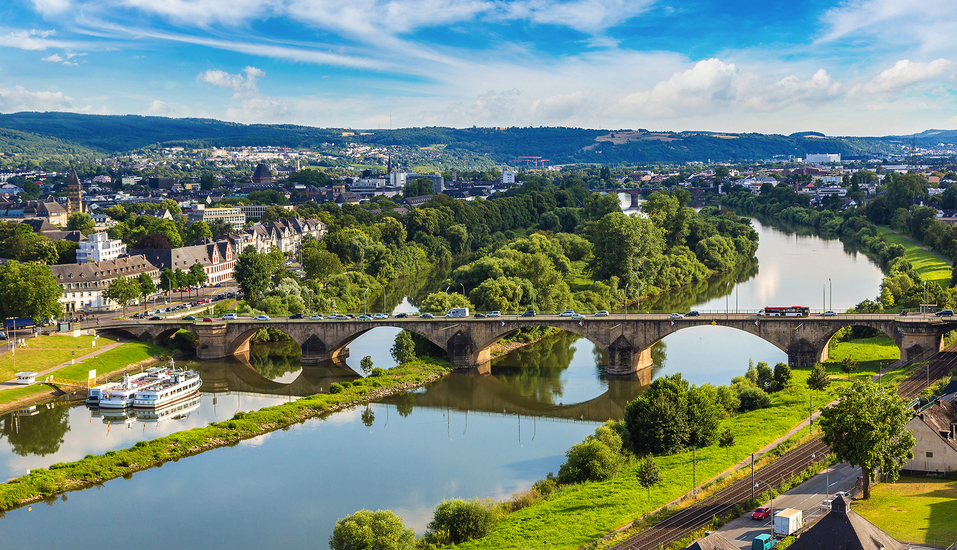 Das historische Trier liegt direkt an der Mosel.
