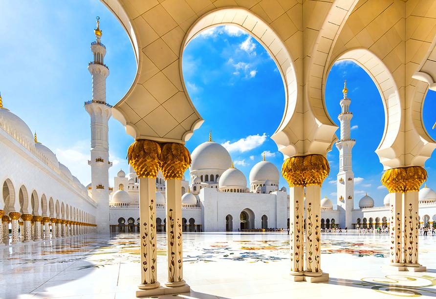 Entdeckerreise Dubai und Abu Dhabi, Sheikh Zayed Moschee