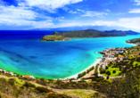 Blick auf die wunderschöne Insel Spinalonga