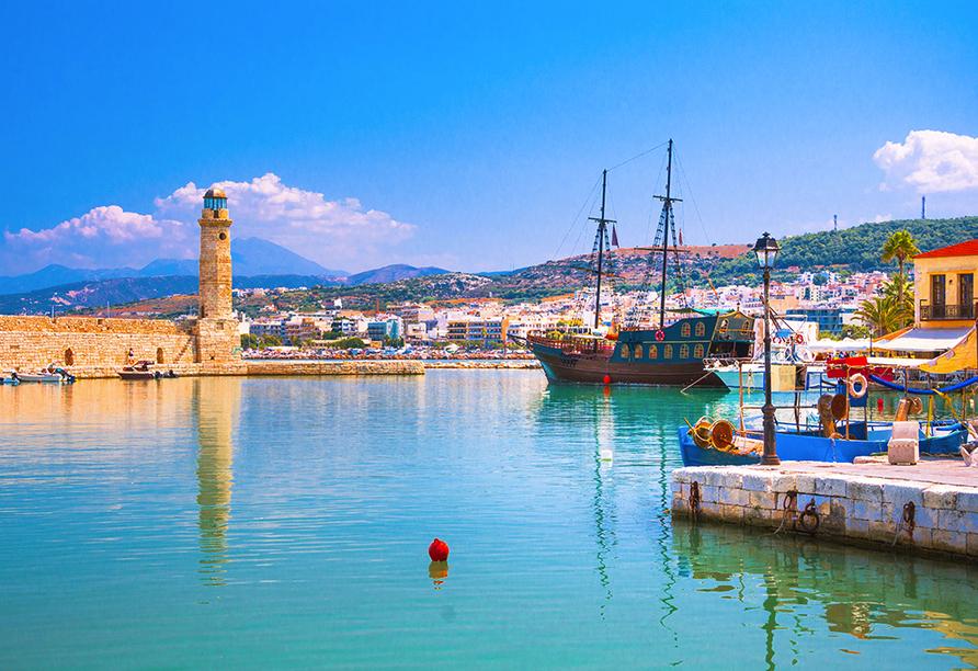 Freuen Sie sich auf einen Besuch der Hafenstadt Rethymnon.
