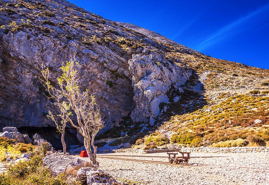 In der Höhle Diktéon Ántron soll Zeus geboren worden sein.