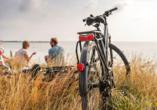 Ostsee Resort Dampland, Fahrrad am Strand