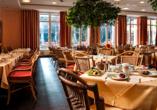 Hotel Elbflorenz in Dresden, Frühstücksraum