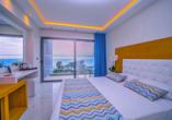 Hotel Oceanis Park in Ixia, Rhodos, Griechenland, Zimmerbeispiel Meerblick