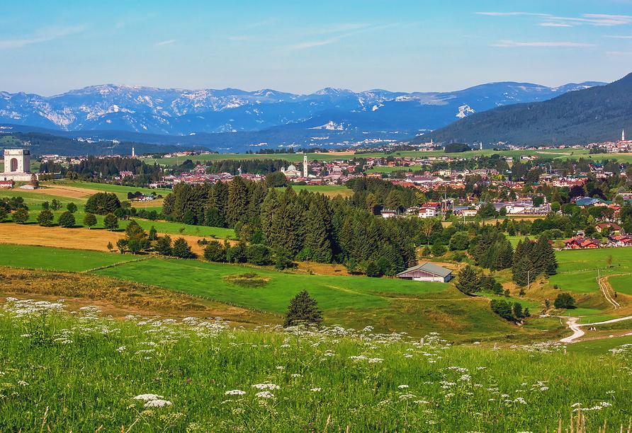 Linta Hotel Wellness & Spa in Asiago Trentino-Südtirol, Landschaftspanorama