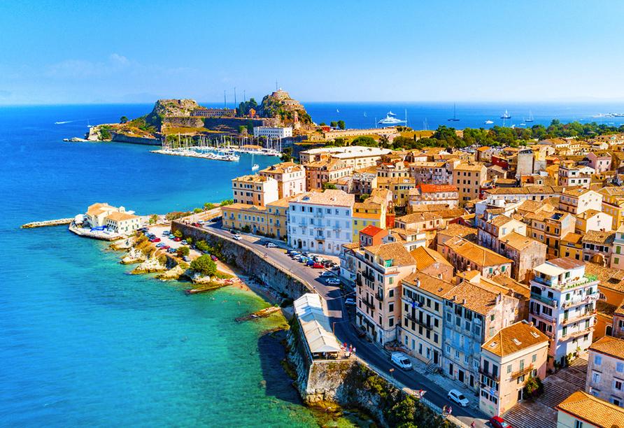 Besuchen Sie auf jeden Fall die Inselhauptstadt Kerkyra!