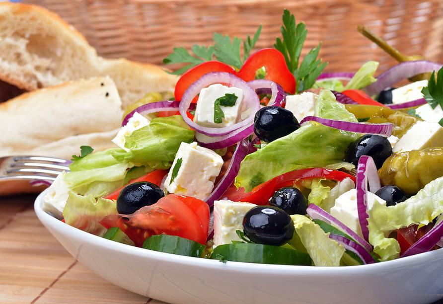 Hotel Niriides in Kolymbia, Rhodos Griechenland, Griechische Küche