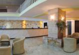 Hotel Angela Beach in Roda auf Korfu, Lobby