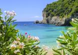 Hotel Angela Beach in Roda auf Korfu, Strand von Paleokastritsas