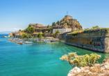 Hotel Angela Beach in Roda auf Korfu, Festung in Korfu Stadt