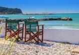 Hotel Angela Beach in Roda auf Korfu, Strand