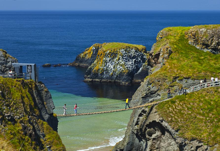 Rundreise Nordirland, Hängebrücke zur Insel Carrick-a-Rede