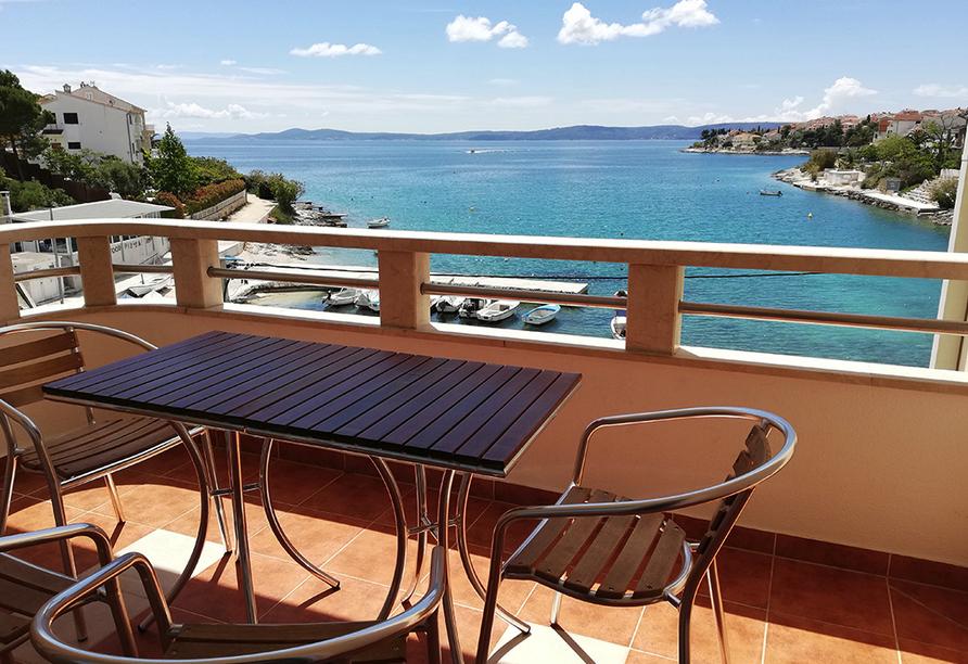 Apartmentanlage Juric in Trogir, Apartment mit Meerblick