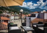 Hotel Dell`Angelo in Locarno, Dachterrasse