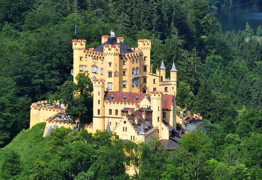 Das Schloss Hohenschwangau nahe Füssen
