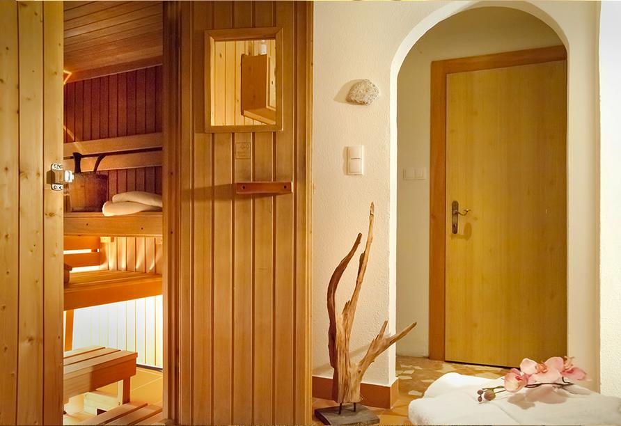 Lieblingsplatz, Tirolerhof, in Zell am Ziller, im Zillertal in Österreich, Finnische Sauna