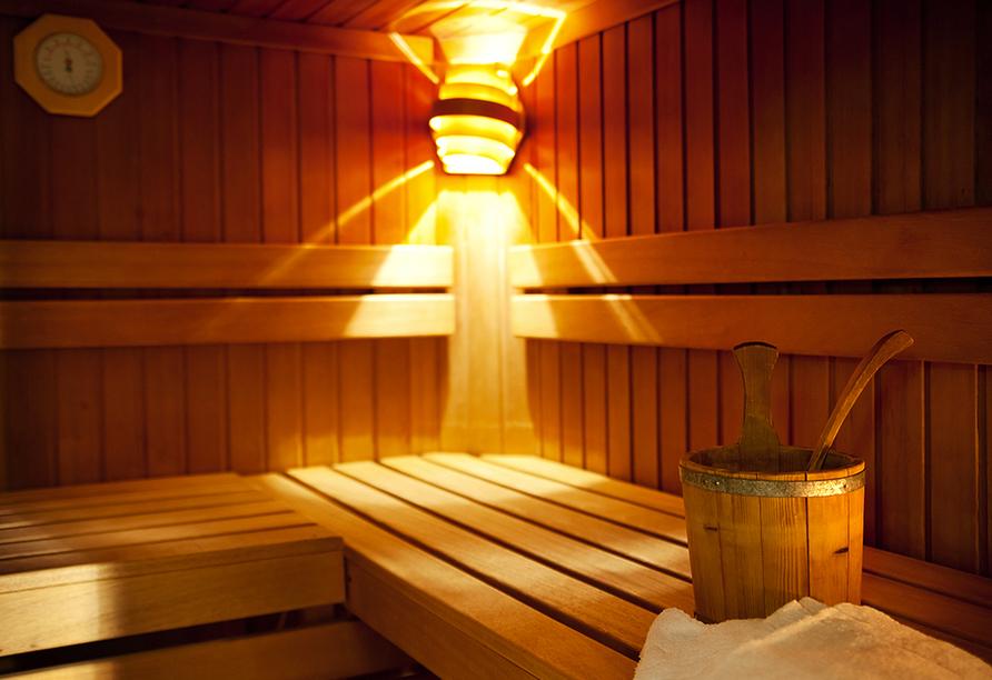Lieblingsplatz Tirolerhof, in Zell am Ziller, im Zillertal, in Österreich, Finnische Sauna