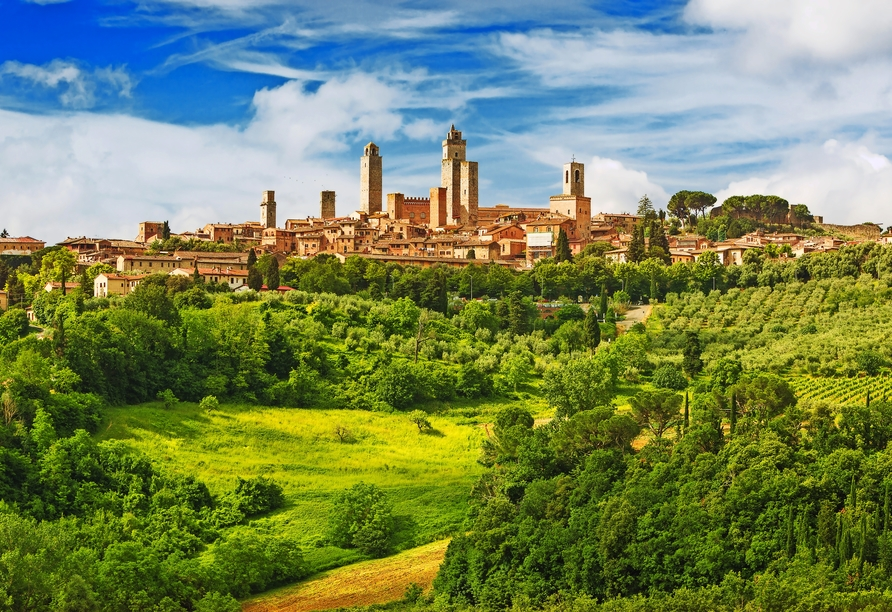 Toskana – Kultur und La Dolce Vita, Geschlechtertürme San Gimignano