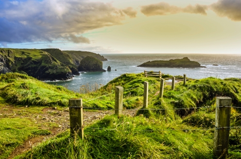Erkunden Sie die traumhafte Landschaft von Cornwall im Süden Englands.