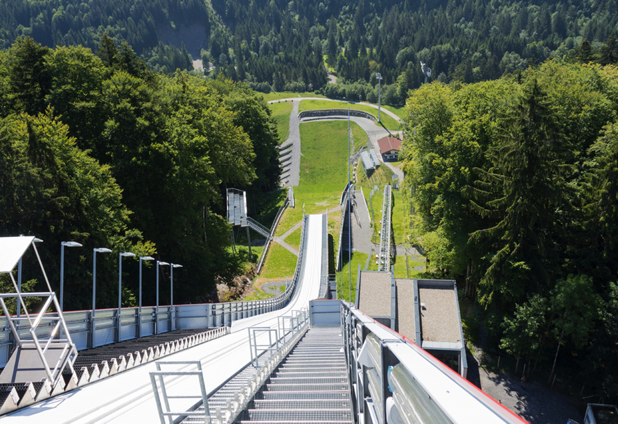 Alpenhotel Oberstdorf, Skisprungschanze