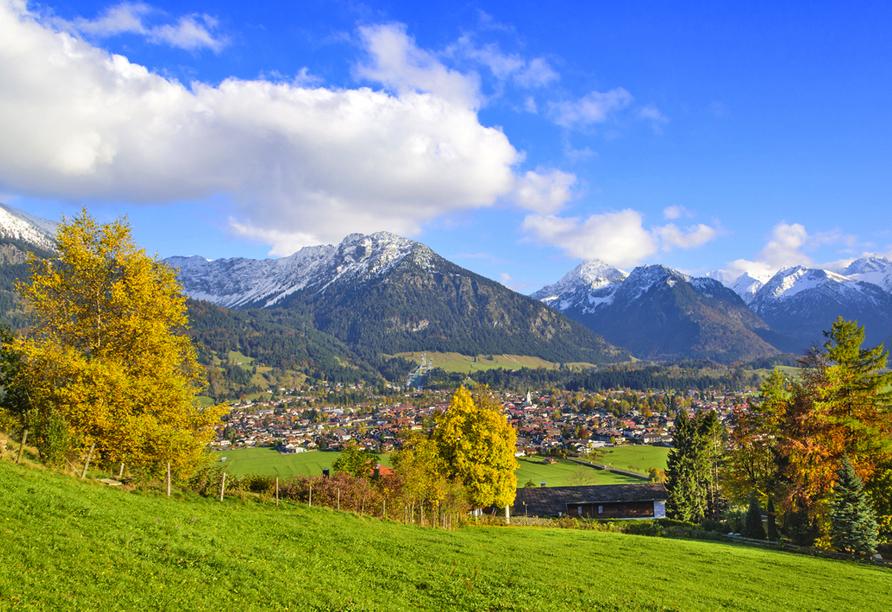 Alpenhotel Oberstdorf, Panoramablick