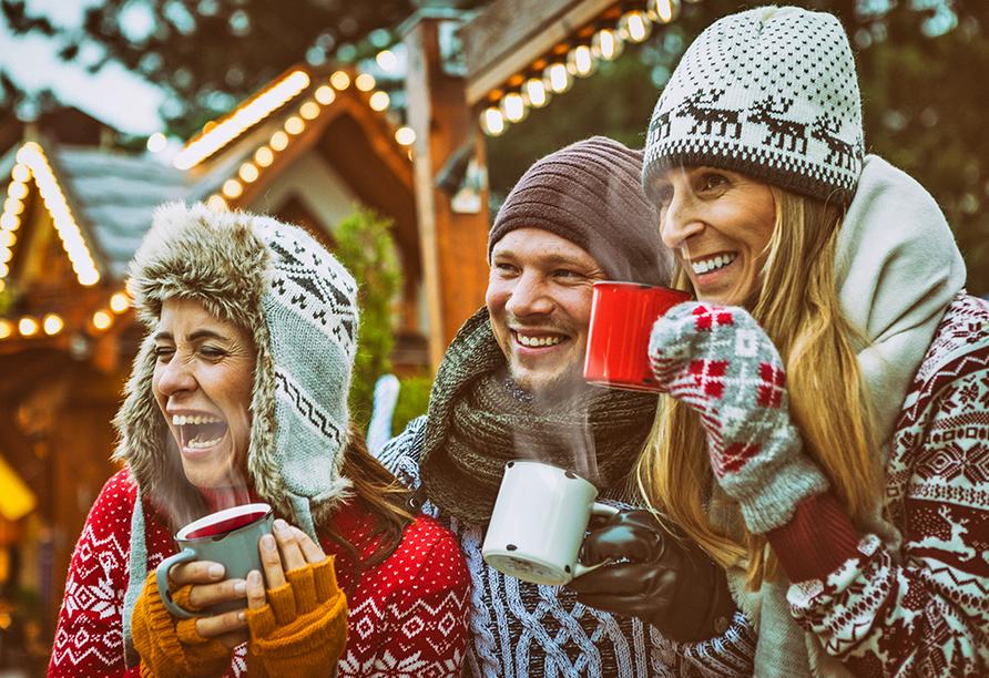 CAREA sunotel Kreuzeck in Goslar-Hahnenklee, Gruppe auf Weihnachtsmarkt