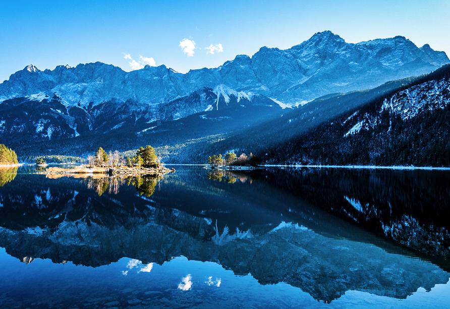 Hotel Vier Jahreszeiten Garmisch-Partenkirchen, Eibsee Winter
